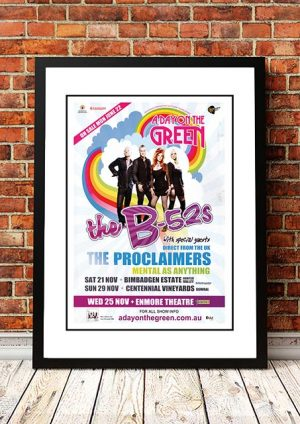 The B-52's / The Proclaimers / Mental As Anything 'A Day On The Green' Sydney, Australia 2009