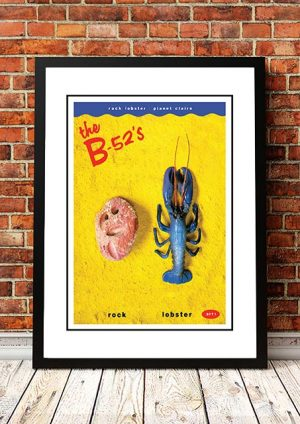 The B-52's 'Rock Lobster' In Store Poster 1980