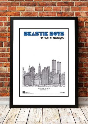 Beastie Boys 'To The 5 Boroughs' In Store Poster 2004