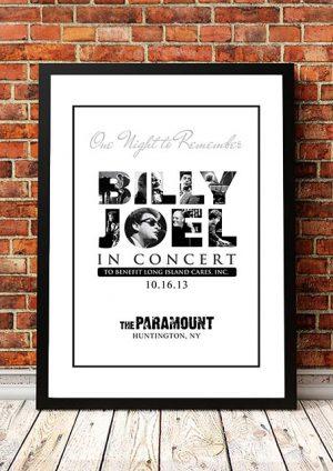 Billy Joel 'Paramount Theatre' NY, USA 2013