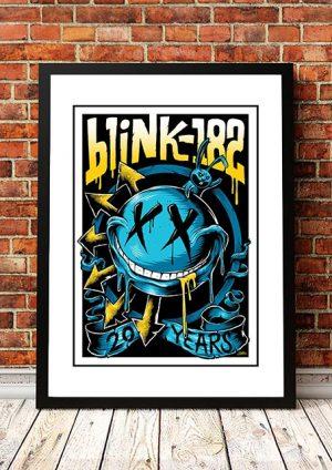 Blink 182 '20 Years' Poster Art