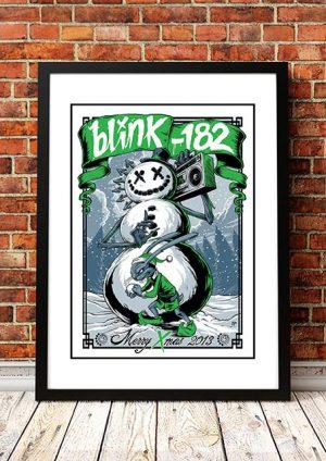 Blink 182 'Merry Xmas' Poster Art