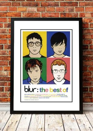 Blur 'Best Of Blur' In Store Poster 2000