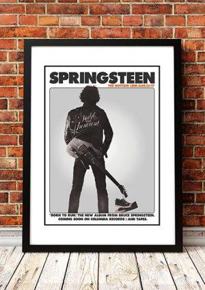 Bruce Springsteen 'Bottom Line' In Store Poster 1975
