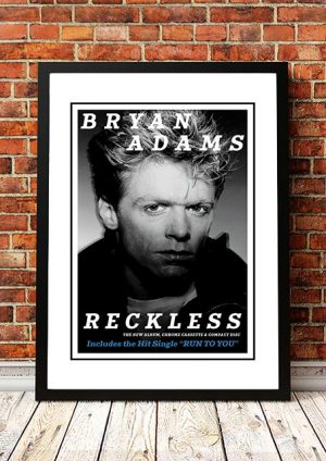 Bryan Adams 'Reckless' In Store Poster 1984