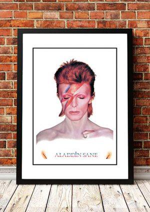 David Bowie 'Aladdin Sane' In Store Poster 1973