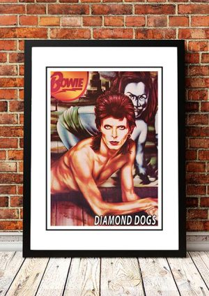 David Bowie 'Diamond Dogs' In Store Poster 1974
