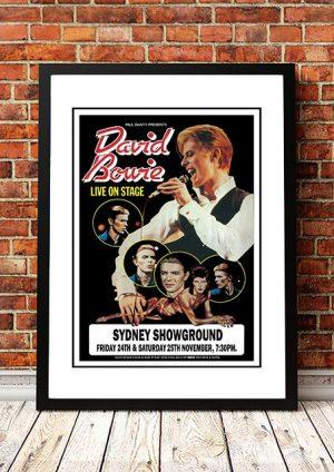 David Bowie 'Sydney Showground' Sydney, Australia 1978