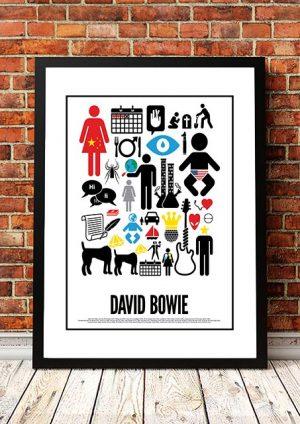 David Bowie 'Word Art' Print