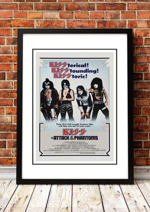 KISS 'Attack Of The Phantoms' Movie Poster 1978