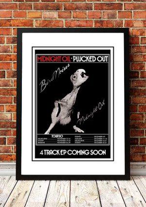 Midnight Oil 'Bird Noises' Tour Poster 1980