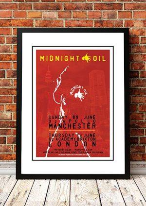 Midnight Oil 'Manchester & London' UK Tour 2019