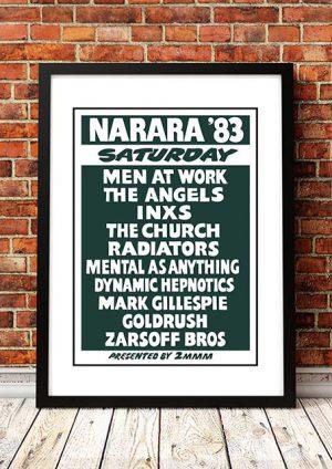 The Angels / INXS / The Church / The Radiators 'Narara Music Festival' Australia 1983