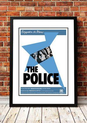 The Police 'Regatta De Blanc' In Store Poster 1980