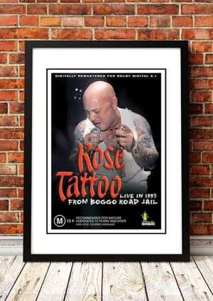 Rose Tattoo 'Live From Boggo Rd' In Store Poster 1993