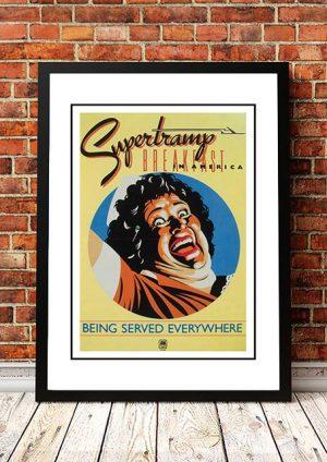 Supertramp 'Breakfast In America' In Store Poster 1978