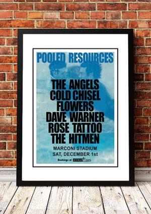 The Angels (Angel City) / Cold Chisel / Flowers / Rose Tattoo / Hitmen 'Marconi Stadium' Sydney, Australia 1979