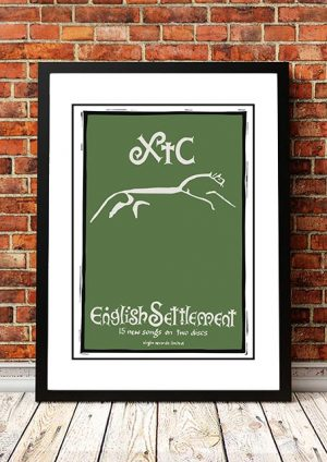 XTC 'English Settlement' In Store Poster 1982