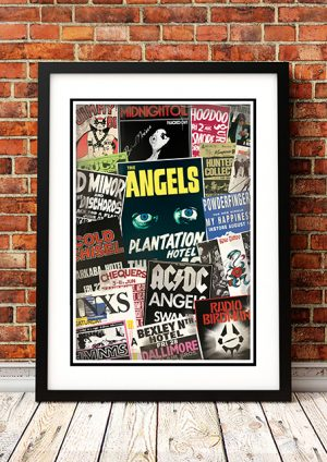 Australian Rock Poster Featuring AC/DC, Angels, Midnight Oil, INXS Plus More