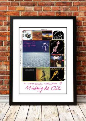 Midnight Oil 'Complete Collection' In Store Poster 1980