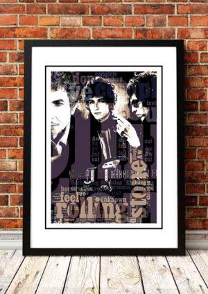 Bob Dylan Pop Art Poster