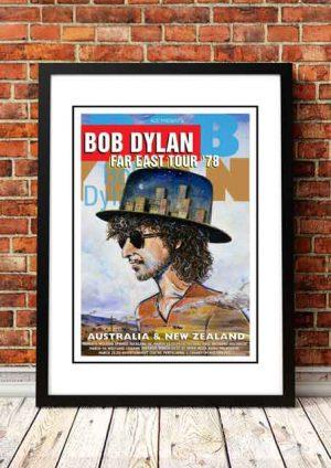 Bob Dylan Far East Tour Poster 1978