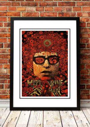 Bob Dylan 'Mr Tambourine Man' Pop Art Poster
