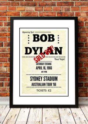 Bob Dylan 'Sydney Stadium' Sydney, Australia 1966