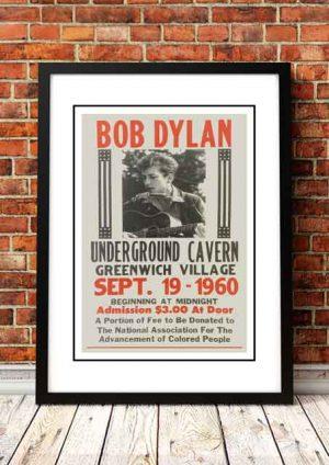 Bob Dylan 'Underground Cavern' Greenwich Village, USA 1966