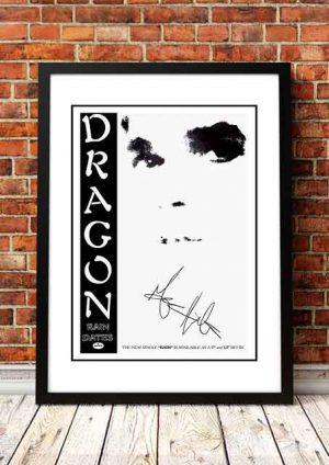 Dragon 'Rain' In Store Poster 1983