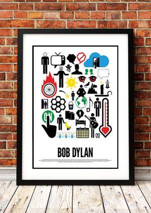 Bob Dylan 'Viktor Hertz' Word Picture Art Poster