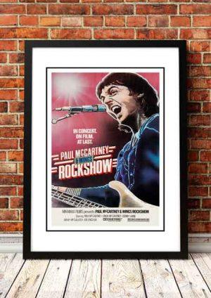 Paul McCartney / Wings 'Rockshow' Movie Poster 1980