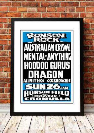 Ronson Rock 'Music Festival' Sydney, Australia 1987