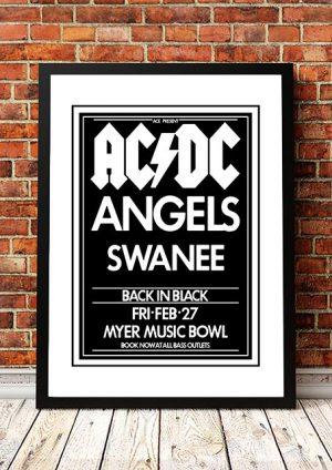 AC/DC / The Angels (Angel City) / Swanee 'Myer Music Bowl' Melbourne, Australia 1981
