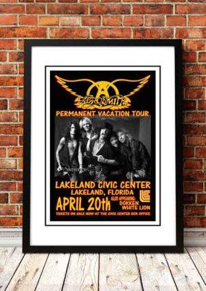 Aerosmith 'Lakeland Civic Center' Florida, USA 1988
