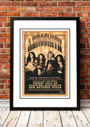 Aerosmith 'Municipal Auditorium' Texas, USA 1975