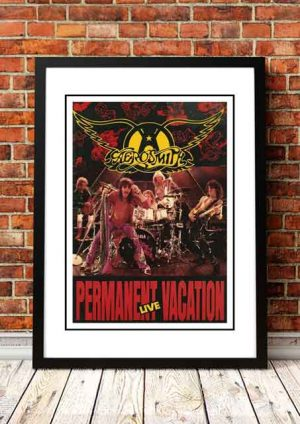 Aerosmith 'Permanent Vacation' In Store Poster 1990