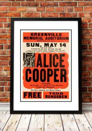Alice Cooper 'Greenville Memorial Auditorium' South Carolina, USA 1972