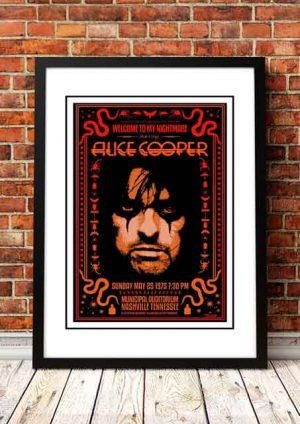 Alice Cooper 'Municipal Auditorium' Nashville, USA 1975