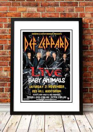 Def Leppard / Baby Animals 'Red Hill Auditorium' Perth, Australia 2015